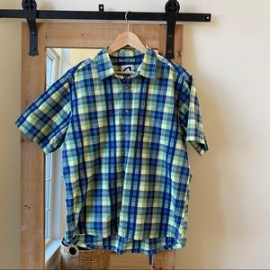 Mountain Khakis Green Plaid Short Sleeve Shirt